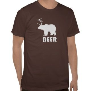 Beer = Bear+Deer Tees