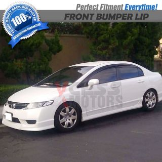 09 11 Honda Civic 4DR Urethane Front Bumper Lip Spoiler