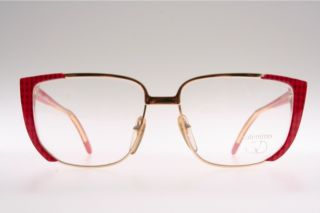 Big Red Golden Combi Lady`s Eyeglasses by Valentino Mod 133 B6W