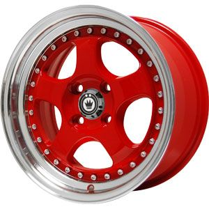New 15x7 5 4x100 Konig Candy Red Wheels Rims