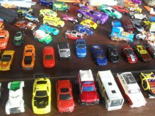 HUGE lot 160+ HOT WHEELS MATCHBOX CARS Storage Case Playsets Hauler