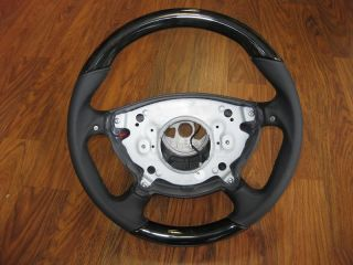 Mercedes W211 AMG E55 Wood Leather Steering Wheel