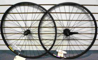 Cruiser bike 26x1.75 Wheels Wheelset Rims Black rims w Black spokes