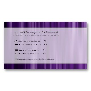 Elegant Abstract Vertical Lines Purple Business Cards