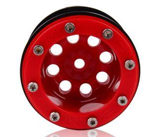 Mud Beadlock Wheels AX10 SCX10 CR01 Red 4