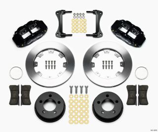 Wilwood Disc Brake Kit Front 84 89 Jeep 12 Rotors Black Calipers YJ