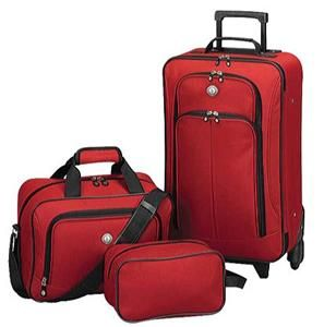 PC Luggage Set Rolling Upright Wheeled Suitcase Tote