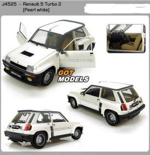 Renault 5 Turbo 2 White 1 18 Scale Model Car by Universal Hobbies 4525