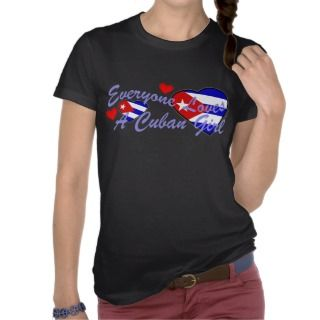 Loves Cuban Girl (Dark) T Shirt