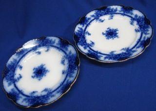 Flow Blue Dinner Plaes Kelvin Paern by Alfred Meakin