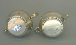 Barton Sterling Silver Creamer Sugar Bowl Set X728 162 Grams