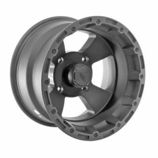 Summit Racing 161 ATV Series Matte Black Bruiser Wheel 14x8 4x137mm