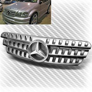 1998 2005 Mercedes Benz W163 ml Class Grille Emblem Chrome Replacement