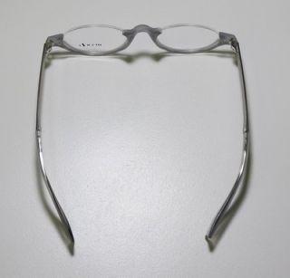 New Alain Mikli 167 Gray Silver Half Rim Eyeglasses Glasses Frames