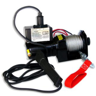 2000lb 12V Electric Winch Hoist Kit ATV Boats 2000 lb 10ft Cable