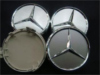 4X Mercedes Benz Chrome Wheel Center Caps 75mm for Mercede Benz C E s