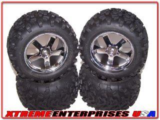 Traxxas 4907 T Maxx 4x4 Nitro 14mm Wheels 6 3 Tires Rims Hubs
