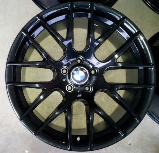 Competition Gloss Black Alloy Wheels Rims Staggered Brand New