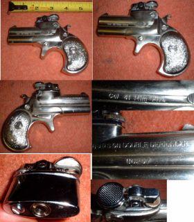 Vintage HUDSON Japan FULL SIZE .41 CAL. Derringer Gun Cigarette Butane