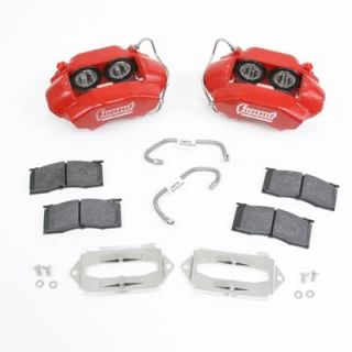 Summit Racing BK189R Disc Brakes, Front, Red Powdercoated, Calipers