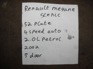 Renault Megane Scenic 2 0 Starter Motor Bosch