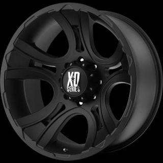 20 Black Wheel Rims XD XD801 8x180 Silverado HD