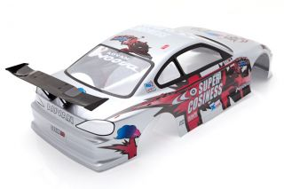 RC Car 1 10 Nissan Silvia Drift Cosiness Body Shell LED Light Buckets