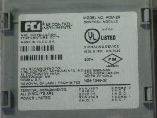 Gamewell FCI Temperature Monitor Control Module AOM 2R