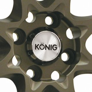 Konig Helium 16x7 4x100 ET40 Bronze Wheels Fit Mini Cooper Civic SI