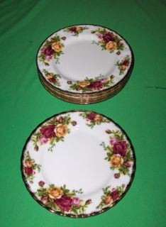 Vintage 1962 Royal Albert Bone China Old Country Roses Bread Plates