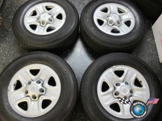 Four 07 12 Toyota Tundra Factory 18 Steel Wheels Tires 08 12 Sequoia