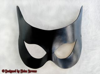 Harley Quinn Leather Mask Masquerade Halloween Costume