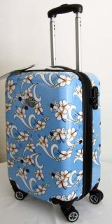 PC Luggage Set Hard Rolling 4 Wheels Spinner Upright Hawaiian Floral