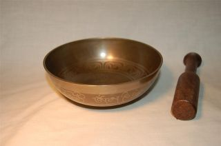 Tibetan Singing Bowl Decorated Cast Himalayan Singing Bowl 207