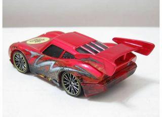 Disney Cars 2 Pixar Dragon Lightning McQueen w Oil Stains Metallic Red