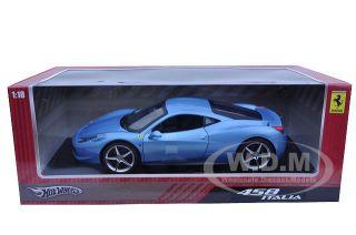 2011 Ferrari 458 Italia Blue 1 18 Diecast Model Car
