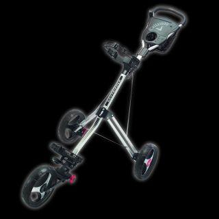 Callaway 3 Wheel Daytripper Chariot Black Silver Push Pull Cart Floor