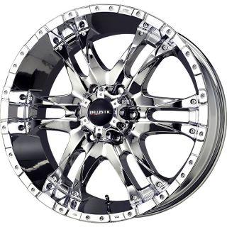 20 inch 20x9 Ballistic Wizard Chrome Wheel Rim 6x135 0