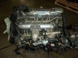 Mitsubishi Fuso Canter JDM 4D32 Silver Top Diesel Engine Trans Motor