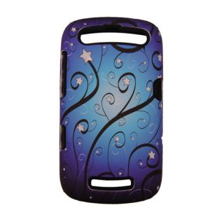 New Sprint Blackberry Curve 9350 9360 Silicon Rubber PC Case Blue Star