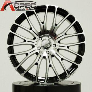 19 PRESTIGE VORTEX BLACK MACHINED FACE 5X112 +35 WHEEL FIT AUDI A4 A5