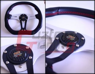 Mugen JDM Real Carbon Fiber Steering Wheel Horn Button Honda Civic Del