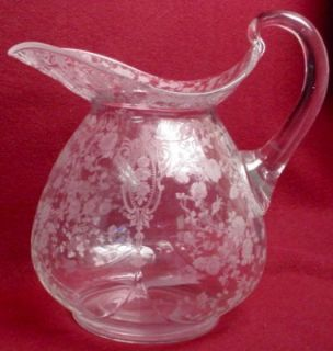 Cambridge Crystal Rose Point Doulton Pitcher 76 Oz