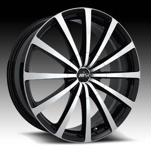 20 x7 5 MSR 042 0422 s F Black Wheels Rims 4 5 Lug