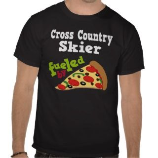 Cross Country Skier (Funny) Pizza T Shirt