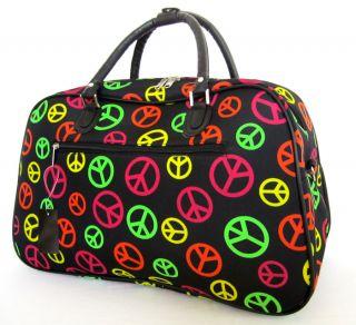 20 Duffel Tote Bag Luggage Travel Overnight Case Multi Color Peace