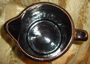 Vintage Nelson McCoy Salt Glaze Mahogany Stoneware The Swastika