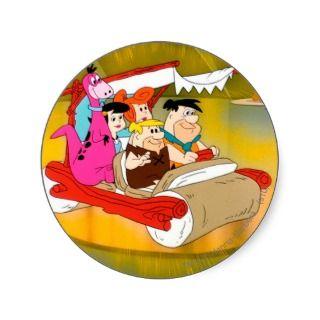 Fred Flintstone Barney Wilma Betty Dino In Glowing Stickers