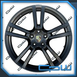 Porsche Cayenne 22 inch Wheels Rims Matte Black New 2013 Q7 Cayenne