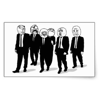 Rage Comic Meme Faces Walking. Me Gusta. Sticker